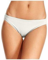 Michael Kors Solid Hipster Bikini Bottom Cream Large - Natural