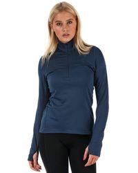adidas Climaheat Half Zip Women's Top - XS - Bleu