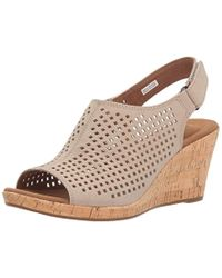 Rockport Briah Perf Sling In Tan Leather| Comfortable Women's Shoes - Brown