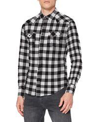 Wrangler Ls Western Shirt Slim Fit Casual Shirt - White