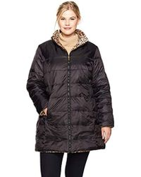 Jones New York - Plus Size Faux Fur Reversible To Down - Lyst