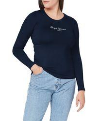 Pepe Jeans New Virginia LS PL502755 T-Shirt - Blu
