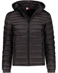 Tommy Hilfiger Packable Down Hooded Jacket - Noir
