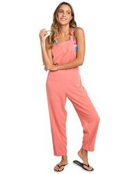 Rip Curl Overall Summer Sway Dungaree Jumpsuit - Red