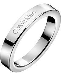 Calvin Klein Hook Extension Ring Kj06mr00010 (maat: 55) - Metallic