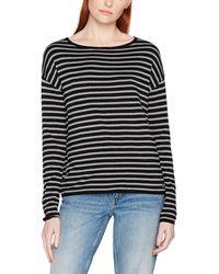 Tom Tailor Striped Sweater Sweatshirt - Schwarz