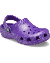 Crocs™ Classic Glitter Clog - Morado