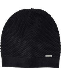 Calvin Klein Triple Knit Beanie - Black