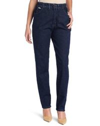 Lee Jeans - Petite Relaxed Fit Side Elastic Tapered Leg Jean - Lyst