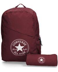 Converse Zaino astuccio Schoolpack XL Burgundy - Rosso