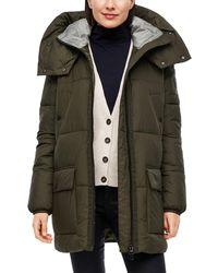 S.oliver Oversized Puffer Coat mit Kapuze Khaki M - Mehrfarbig
