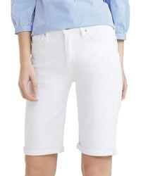 Tommy Hilfiger Venice Slim RW Bermuda CLR Shorts - Weiß