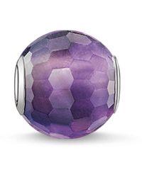 Thomas Sabo Bead Karma Beads 925 Sterling Silber Amethyst violett lila K0089-163-13 - Mettallic
