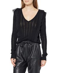 Guess LS Vn Olivia Sweater Jersey - Negro