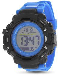 Steve Madden Digital Watch Smw382 Blue/black One Size