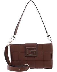 Guess - Liberty City Shoulder Bag Cognac - Lyst