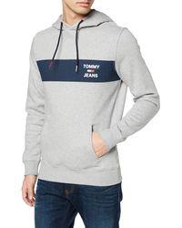 Tommy Hilfiger TJM Essential Graphic Hoodie Jersey de Deporte - Gris