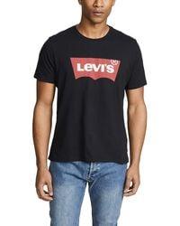 Levi's Black Batwing Logo T-shirt