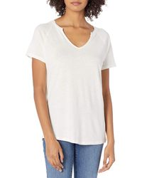 Goodthreads - Linen Modal T-Shirt à ches Courtes et col Rond Chemise - Lyst