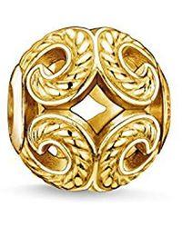 Thomas Sabo Bead Karma Beads 925 Sterling Silver Yellow Gold Plating K0051-413-12 - Metallic