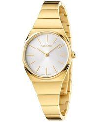 Calvin Klein Analogue Quartz Watch With Stainless Steel Strap K6c23546 - Metallic