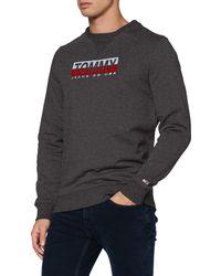 Tommy Hilfiger TJM Essential Split Box Crew Pullover - Blau