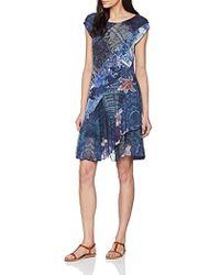 Desigual - Dress Short Sleeve Osages Woman Blue, Vestido para Mujer - Lyst
