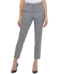 Tommy Hilfiger - S Gray Zippered Check Pants - Lyst