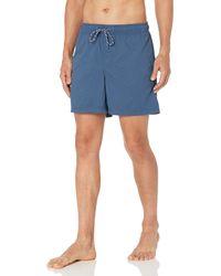 "Amazon Essentials 6"" Inseam Drawstring Walk Short - Bleu"