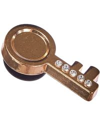 Crocs™ 's Gold Key Shoe Charms - Brown