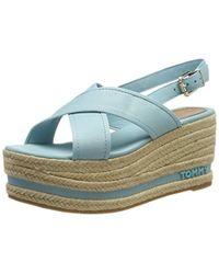 Tommy Hilfiger - Flatform Sandal Tommy Pastel, 's Platform Sandals - Lyst