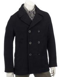Timberland Abrigo de guisante de lana para hombre - Negro