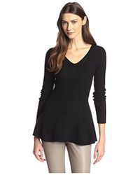 James & Erin - Flared Cashmere Sweater - Lyst