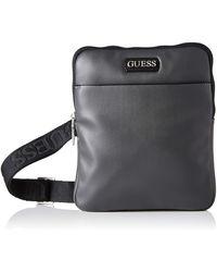 Guess Dan Pu Mini Flat Crossbody Bags Briefcase - Grey