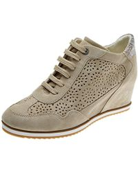 Geox D Illusion B Trainers - Natural
