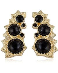 """BCBGeneration - """"sweeps"""" Post Climber Stud Earrings - Lyst"""