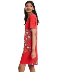 Desigual Dress DAMIS Vestido - Rojo