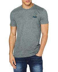 Superdry OL Vintage Embroidery tee Camiseta para Hombre - Gris