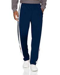 adidas Synthetic Adibreak Navy Track Pants Mens L in Blue