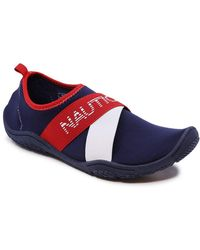 Nautica Rawan Athletic Water Shoes Barefoot Beach Sports Summer Shoe-Red White Blue-7 - Bleu
