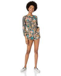 O'neill Sportswear Korra Long Sleeve Woven Romper - Multicolour