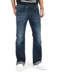 DIESEL - Zatiny Jeans Men Blue - Uk 32 (us 32/34) - Bootcut Jeans - Lyst