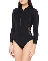 AURIQUE Amazon Brand - Women's Monokini, Black (black), S, Label:s