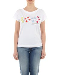 Love Moschino T-shirt With Short-sleeves - White
