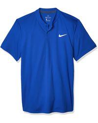 Nike Court Dri-Fit Polohemd - Blau