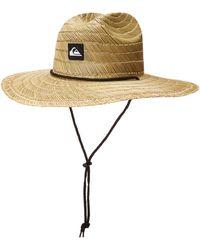 Quiksilver Pierside Lifeguard Beach Sun Straw Hat - Natural