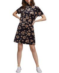 adidas Originals Bellista Floral Velvet Tee Dress - Black