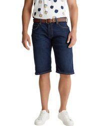Esprit 040ee2c357 Pantalones Cortos de Jean - Azul