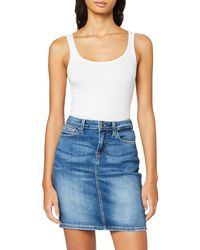 Guess Asia Midi Skirt Jupe - Bleu