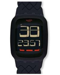 Swatch Digital Quarz Uhr mit Silikon Armband SURB121 - Mehrfarbig